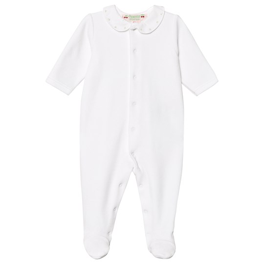 Bonpoint Cherry Collar Footed Baby Body White 100