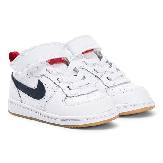 NIKE Court Borough Infants Sneakers White and Obsidian 107