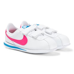 NIKE Cortez Basic Sneakers White and Hyper Pink