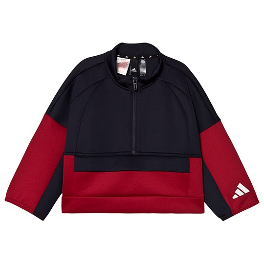 adidas Performance Cropped Track Top Black legend ink/active maroon/white