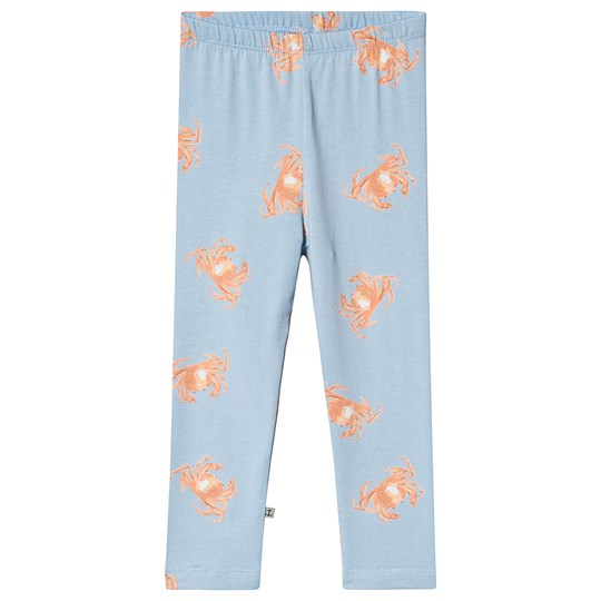 Emma och Malena Crab Leggings Blue Crab Blue