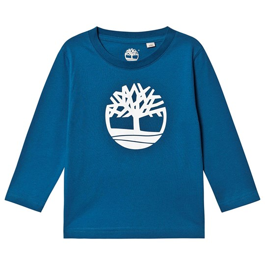 Timberland Branded Long Sleeve Tee Blue 820