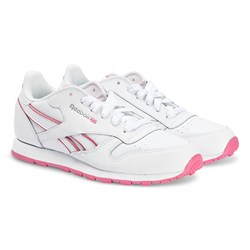 Reebok Classic Leather Sneakers White and Pink