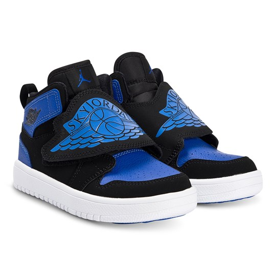 Air Jordan Sky Jordan Sneakers Black and Hyper Royal 004