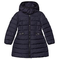 18cf2499 Moncler Navy Charpal Longline Down Hooded Coat 778