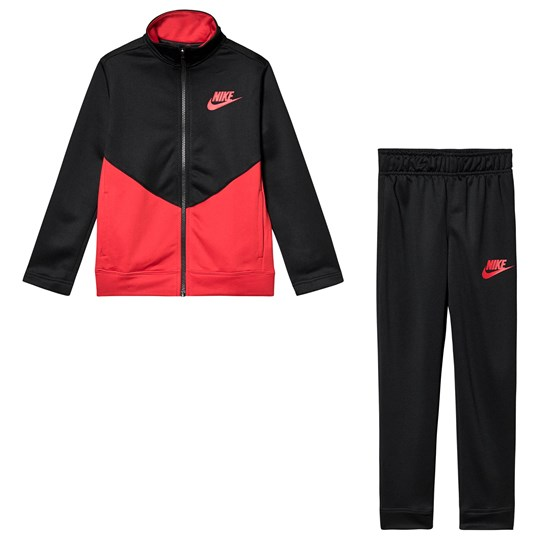 NIKE Futura Logo Tracksuit Black and Red 010