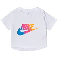 934f6446 NIKE Logo Crop Top White 100