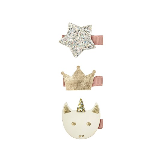 Mimi & Lula 3-Pack Glitter Magical Unicorn Hair Clips 18