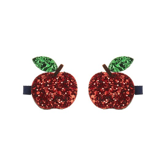 Mimi & Lula 2-Pack Glitter Apple Hair Clips 14