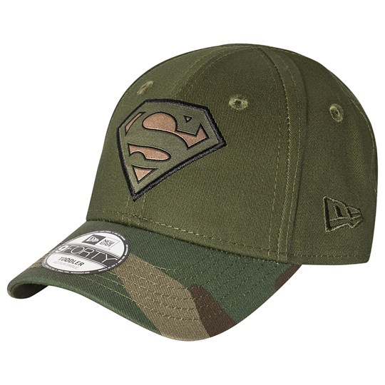 New Era Superman Cap Camo Woodland Camo