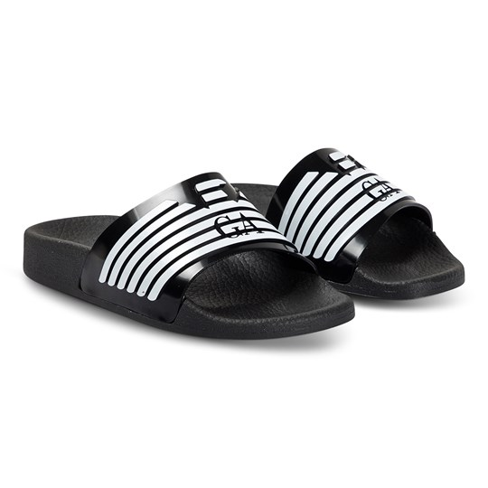 Emporio Armani Eagle Logo Sliders Black A120