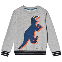 Paul Smith Junior Dino Print Tröja Grå Marl