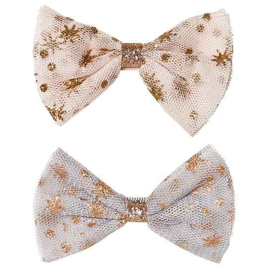 Mimi & Lula 2-Pack Glitter Ballerina Bow Hair Clips Gold 23