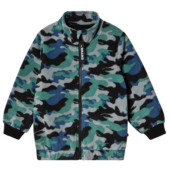 The BRAND Fleece Jakke Blå Camo