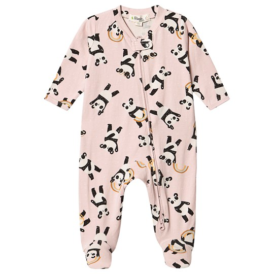 The Bonnie Mob Pepper Footed Baby Body Pink Pink