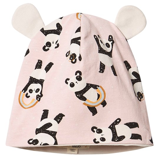 The Bonnie Mob Panda Reversible Baby Beanie Pink Pink