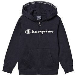 Champion Branded Zip Hoodie Navy