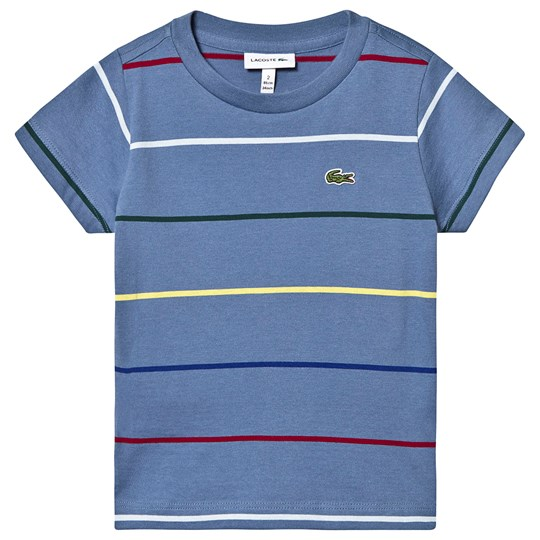 Lacoste Stripe Logo T-shirt Blue 4MX