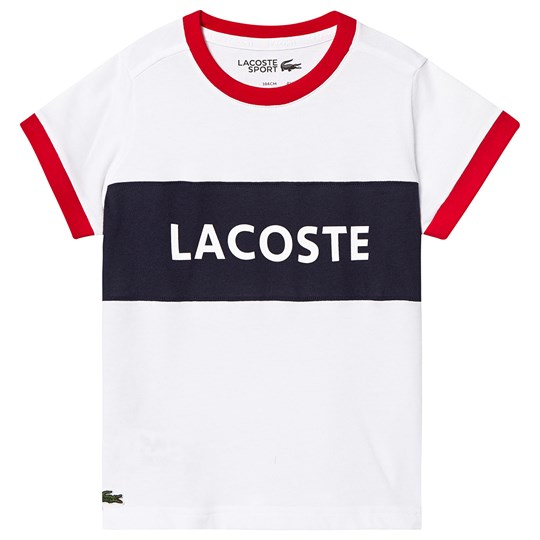 Lacoste Sport Lettering Colorblock T-shirt White/Navy A10