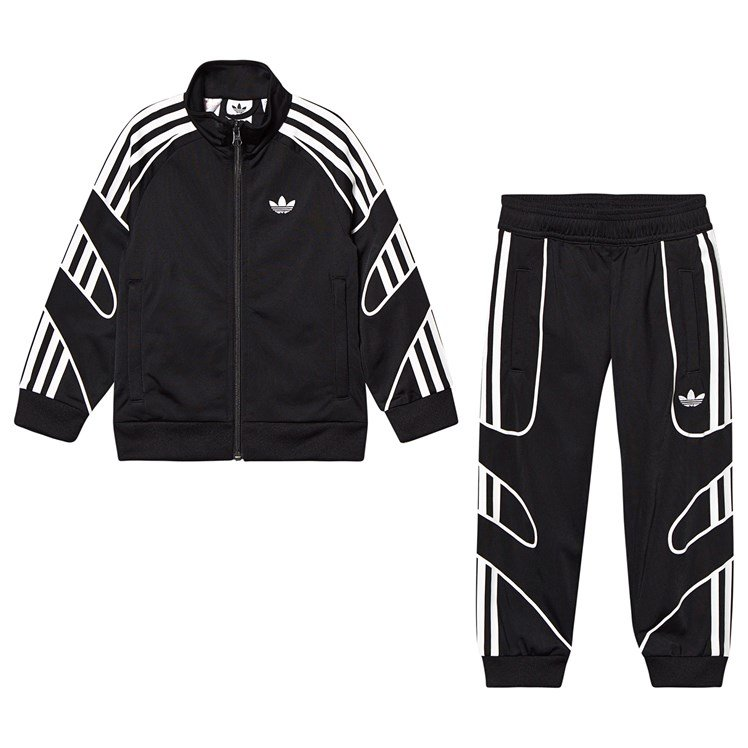 Little Kids Flamestrike Tracksuit BlackWhite