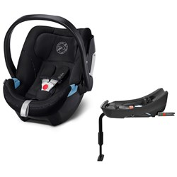 Cybex Aton 5 Infant Carrier Urban Black with Base 2-fix
