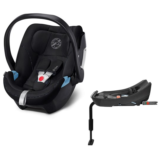 Cybex Aton 5 Infant Carrier Urban Black with Base 2-fix Black
