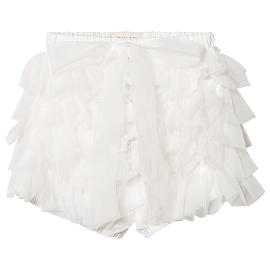 DOLLY by Le Petit Tom Frilly Mamelucker Vit White