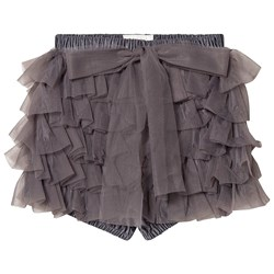 DOLLY by Le Petit Tom Frilly Bloomers Dark Grey