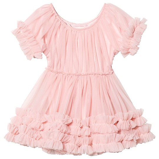 DOLLY by Le Petit Tom Frilly Mekko Rose Pink Rose Pink