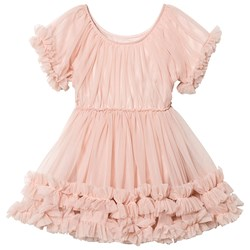 DOLLY by Le Petit Tom Frilly Dress Ballet Pink