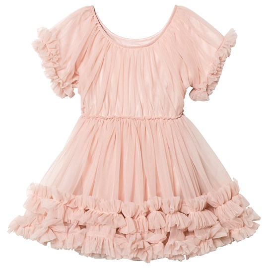 DOLLY by Le Petit Tom Frilly Dress Ballet Pink Ballet Pink