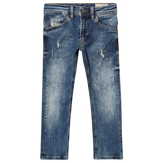 Diesel Light Wash Thommer Super Slim Skinny Jeans Blue K01