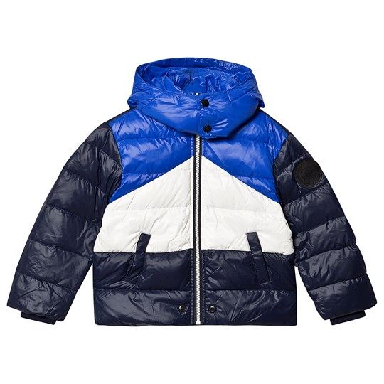 Diesel Color Block Puffer Jacket Navy/Blue/White K80AA