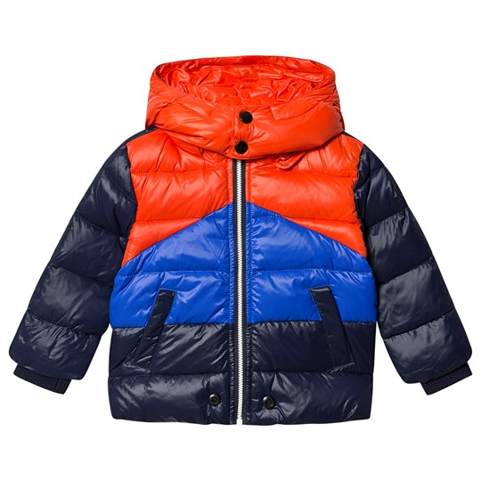 Diesel Color Block Puffer Jacket Black/Blue/Red K80A