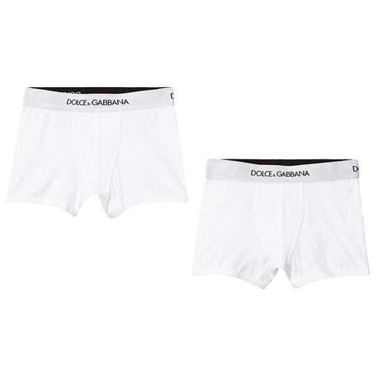 Dolce & Gabbana 2-Pack Branded Boxers White W0800