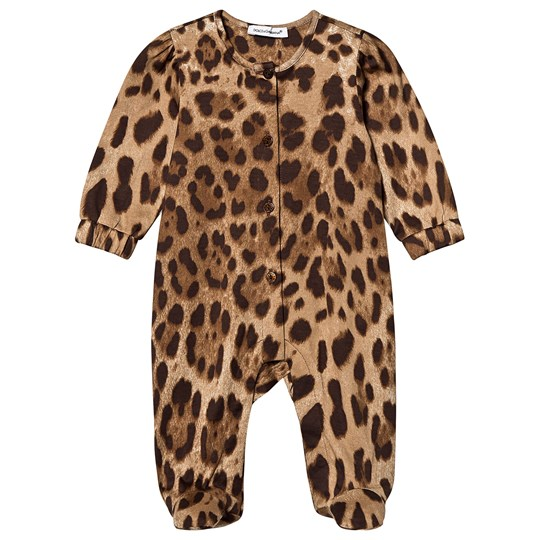 Dolce & Gabbana Leopard Footed Baby Body Brun HY13M