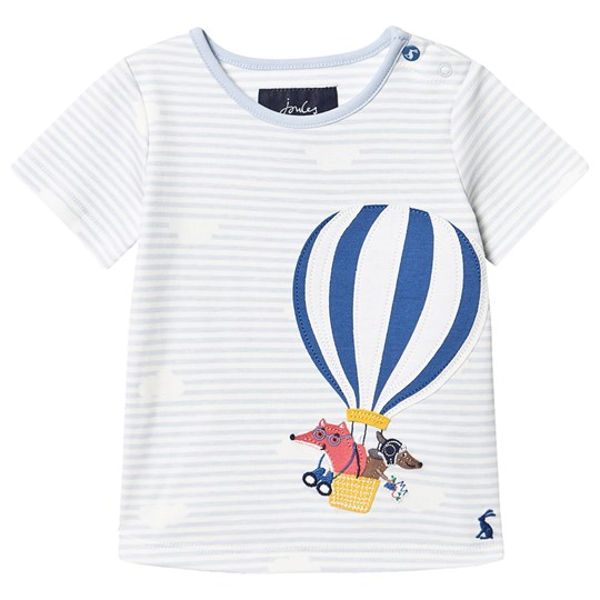 Tom Joule Jack Tee Pale Blue Blue Stripe Hot Air Balloon