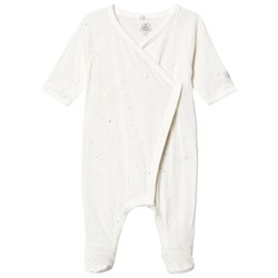 Petit Bateau Dors Bien Footed Baby Body Marshmallow White
