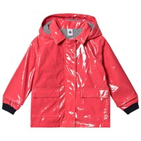 2332856c Petit Bateau Gloss Waxed Jacket Signal Red Signal