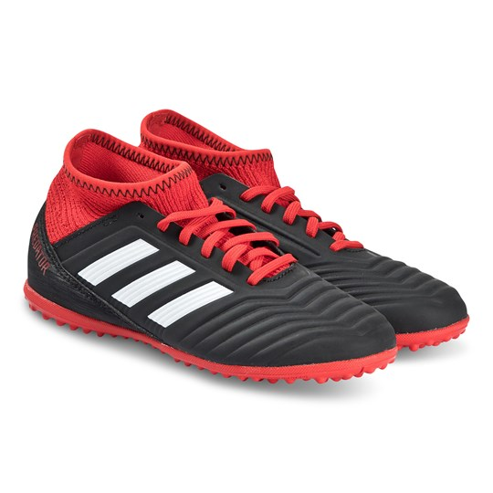 adidas Performance Black and Red Predator 18.3 Turf Soccer Boots CORE BLACK/FTWR WHITE/RED