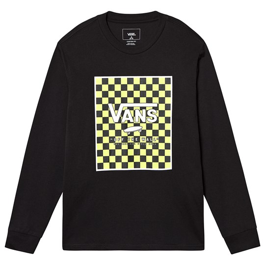 Vans Checkerboard Long Sleeve Tee Black TN91