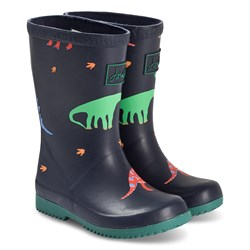 Joules Dino Roll Up Rain Boots Navy