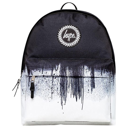 Hype Mono Drips Backpack Black and White Black