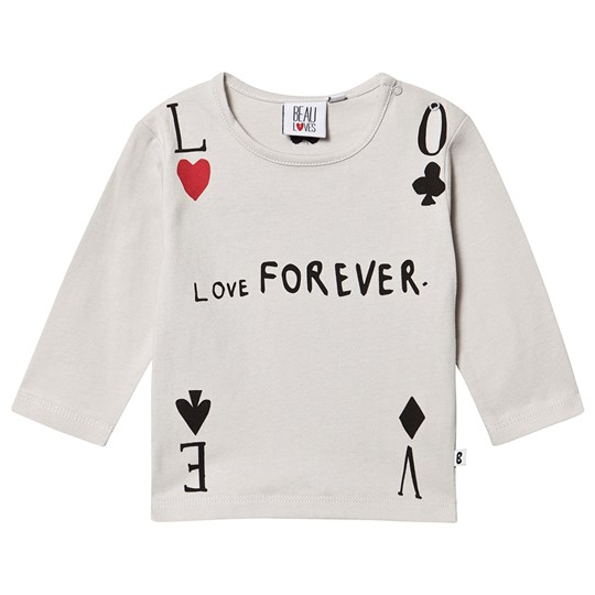 Beau Loves Baby Long Sleeve T-Shirt Quiet Grey Quiet Grey, Love Forever