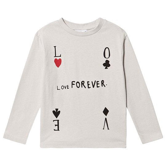Beau Loves Long Sleeve T-Shirt Quiet Grey Quiet Grey, Love Forever, Black & White