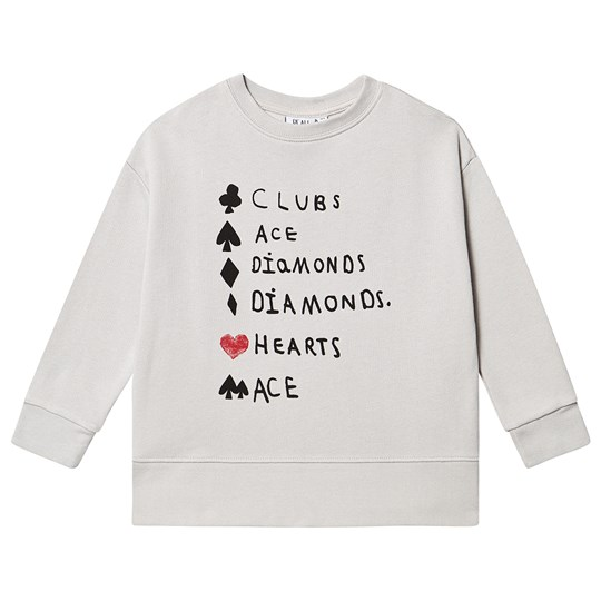 Beau Loves Relaxed Fit Sweatshirt Quiet Grey Quiet Grey Clubs Ace Black & Red