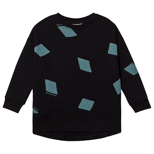 Beau Loves Relaxed Fit Sweater Black Black, Diamonds AOP, Jadeite