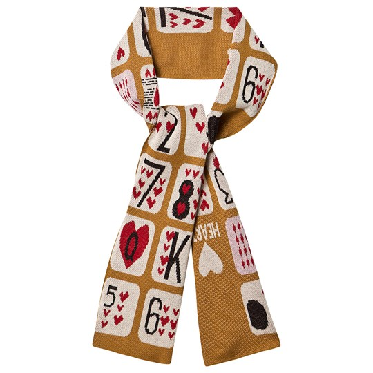 Beau Loves Game Of Hearts Scarf Dark Camel Camel