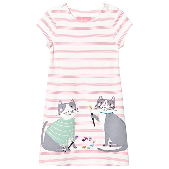 Tom Joule Kaye Stripe Dress Pink PINK STRIPE DOUBLE CATS