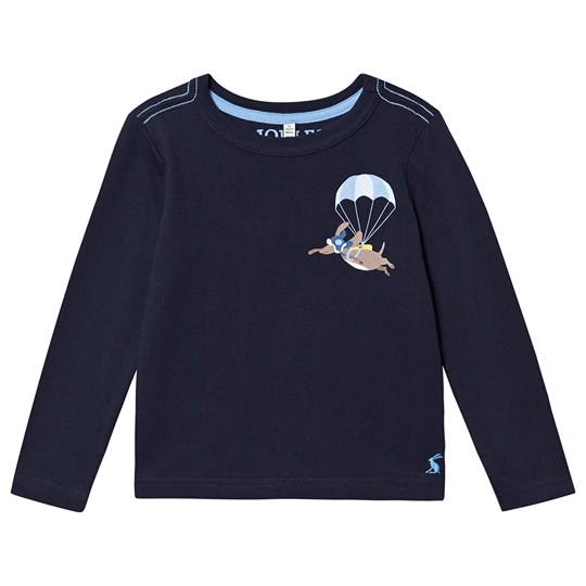 Tom Joule Finlay Long Sleeve Tee Navy Navy Parachute Dog